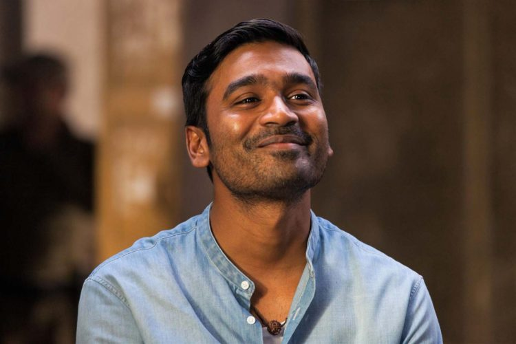 Actor Dhanush smiles