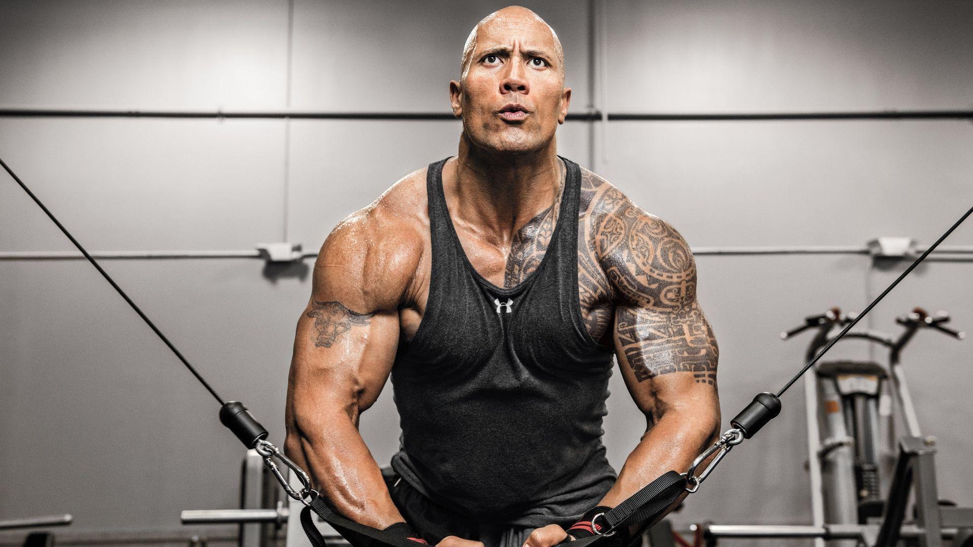 Dwayne Johnson workout hd wallpaper