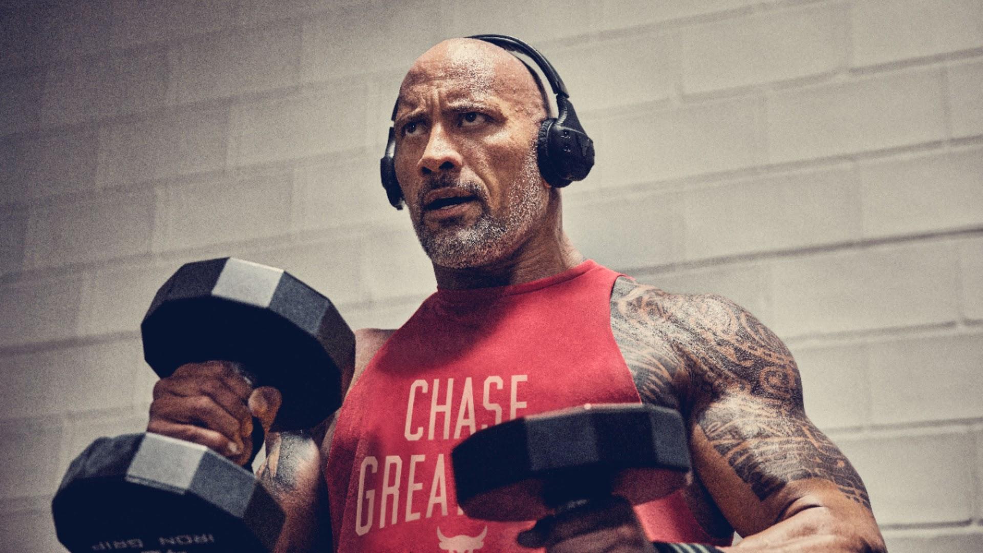 Dwayne Johnson workout wallpaper