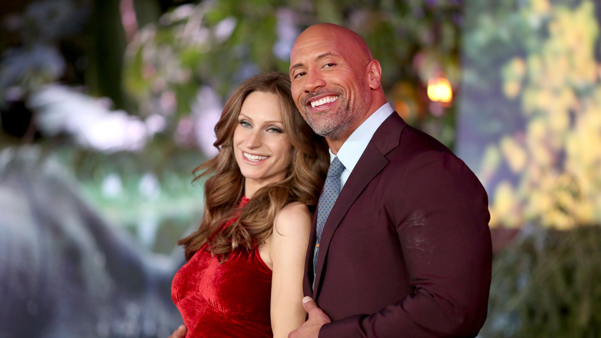 dwayne johnson and his wife Lauren Hashian