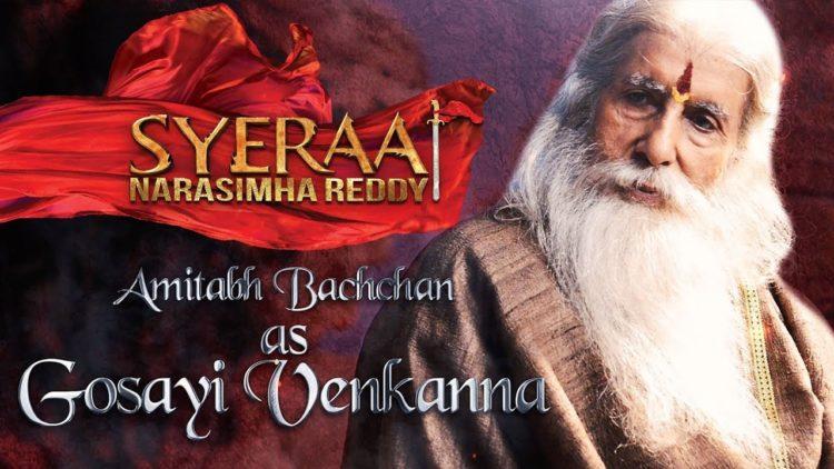 Amitabh Bachchan as Gosayi Venkanna – Sye Raa Narasimha Reddy