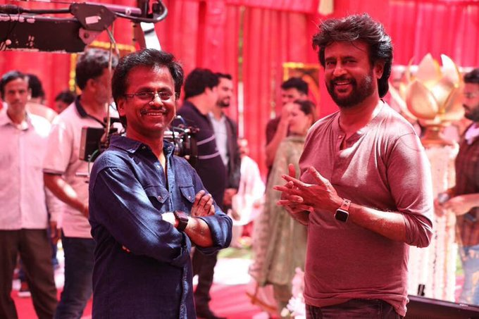 darbar shooting spot - Rajinikath and director Murugadoss