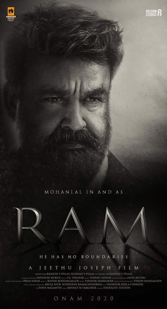 Mohanlal upcoming movie RAM Poster