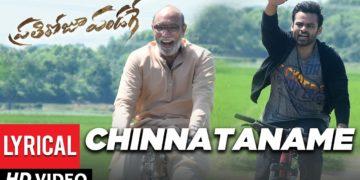 Chinnataname Telugu Lyrical Video | Prati Roju Pandaage Movie Songs