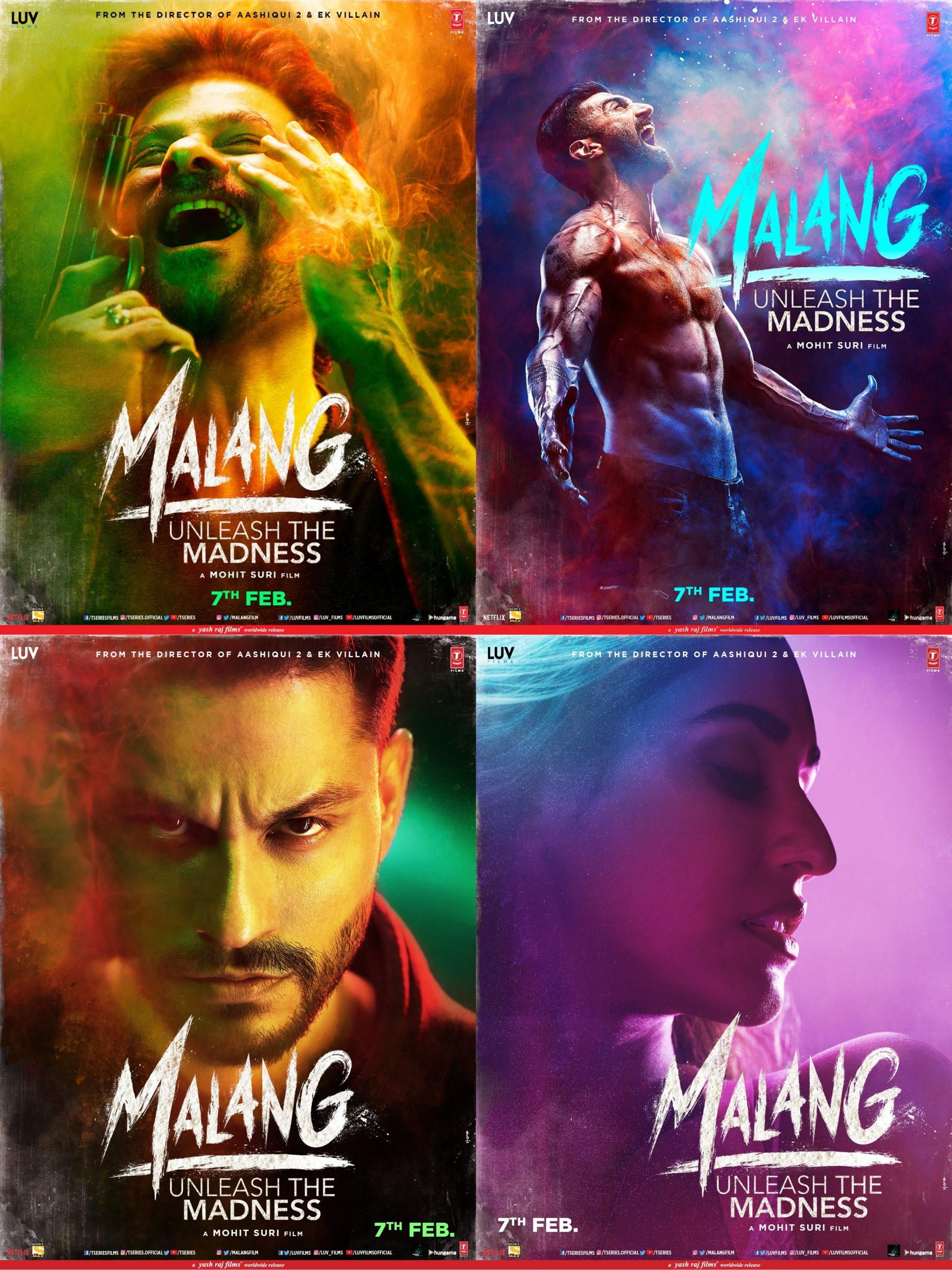 Exclusive Malang Movie Posters Are Available Now Live Cinema News