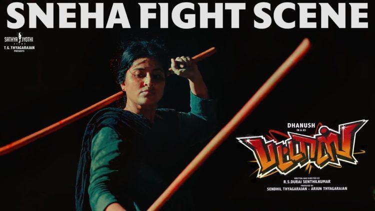 Sneha Fight Scene   Pattas Tamil Movie Scene