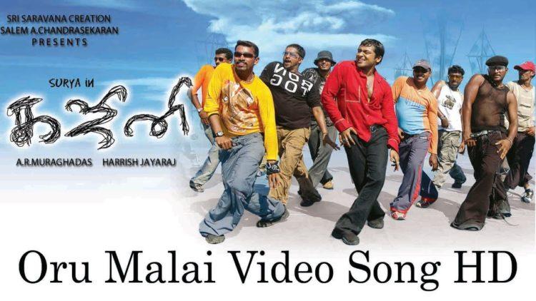 Oru Malai Video Song | Ghajini Tamil Movie Songs