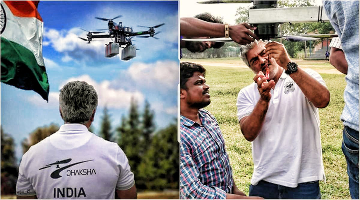"Ajith Designed ""UAV"" for COVID 19 disinfection is Ultimate success"
