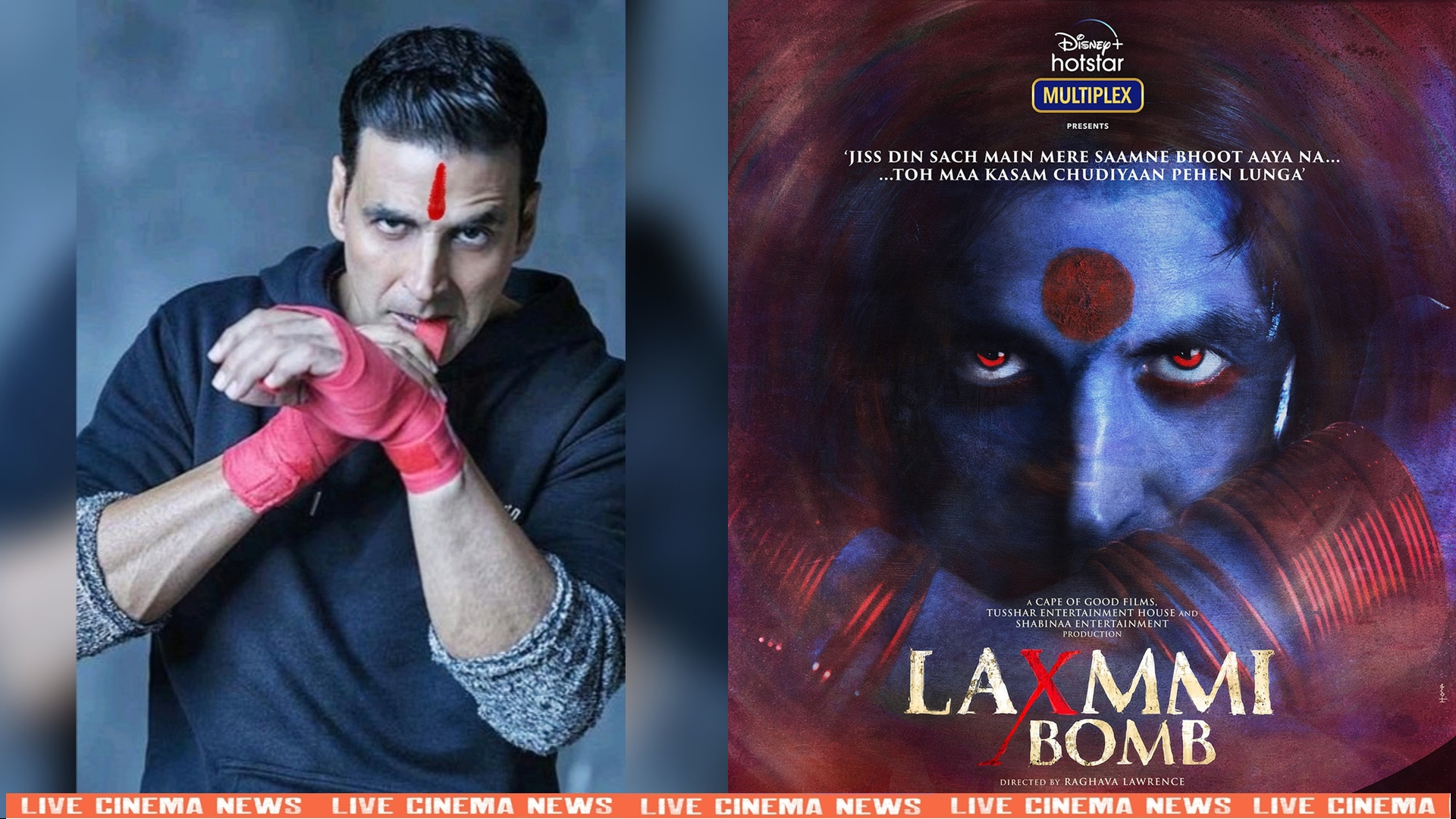 "Akshay Kumar shared poster of his upcoming movie ""Laxmmi Bomb"""