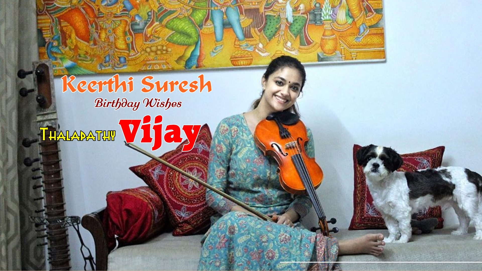 Keerthi Suresh convey birthday wishes to Thalapathy Vijay in a Musical Way