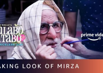 Gulabo Sitabo Making look of Mirza for Amitabh Bachchan