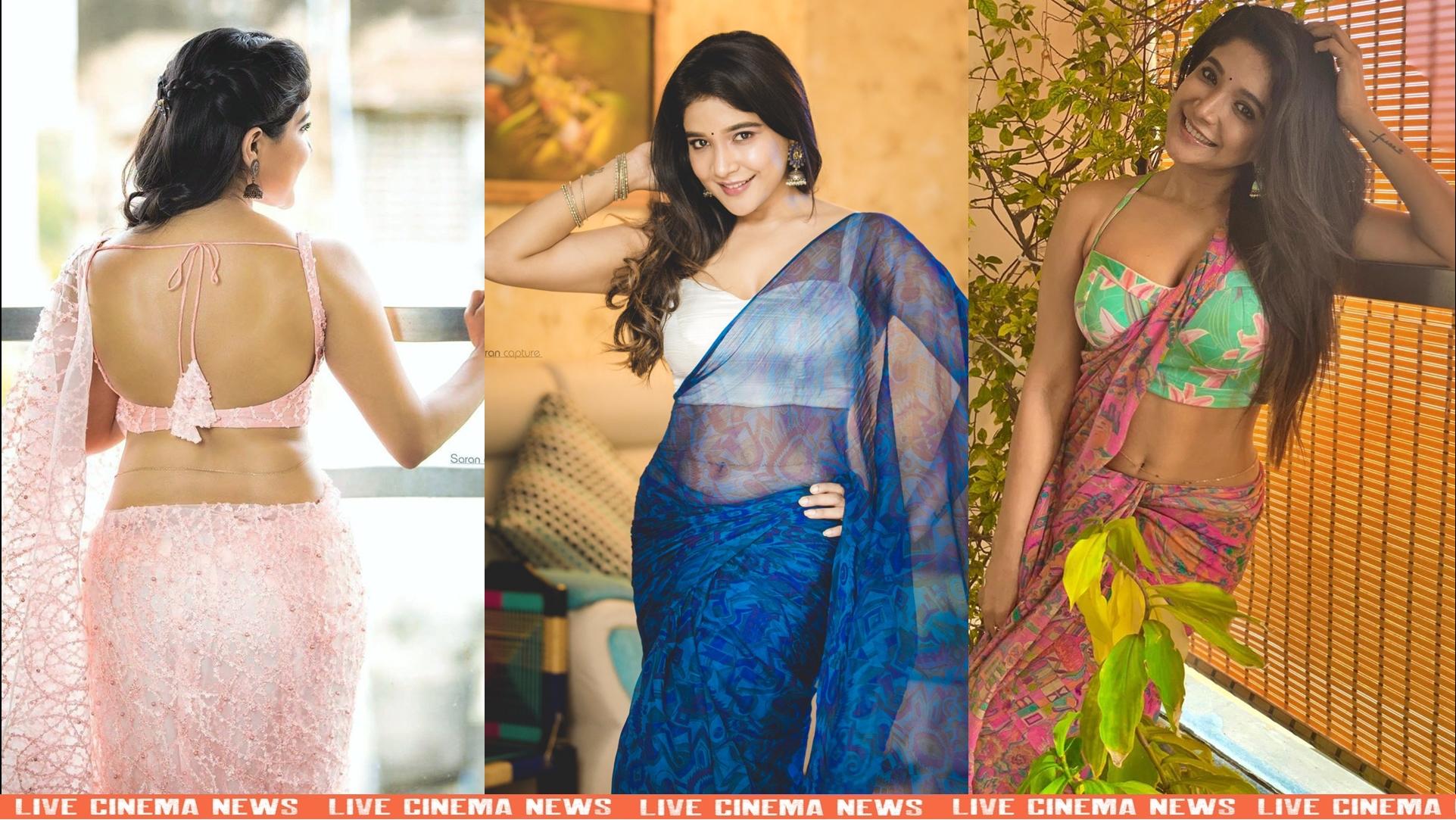 Beautiful saree photos of actress Sakshi Agarwal