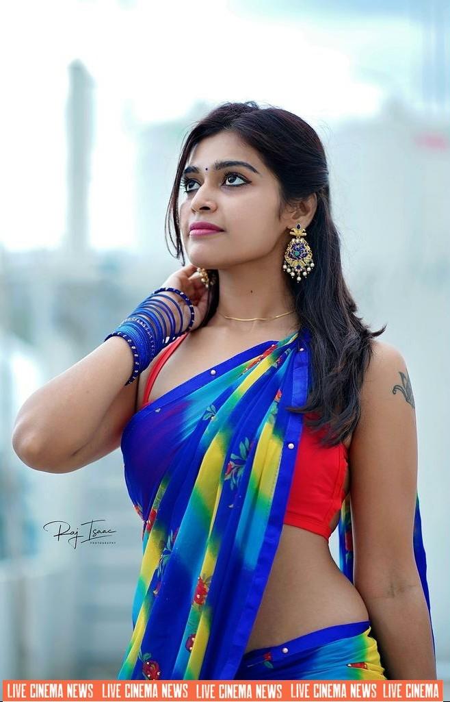 Dharsha_Gupta_latest_saree_photos