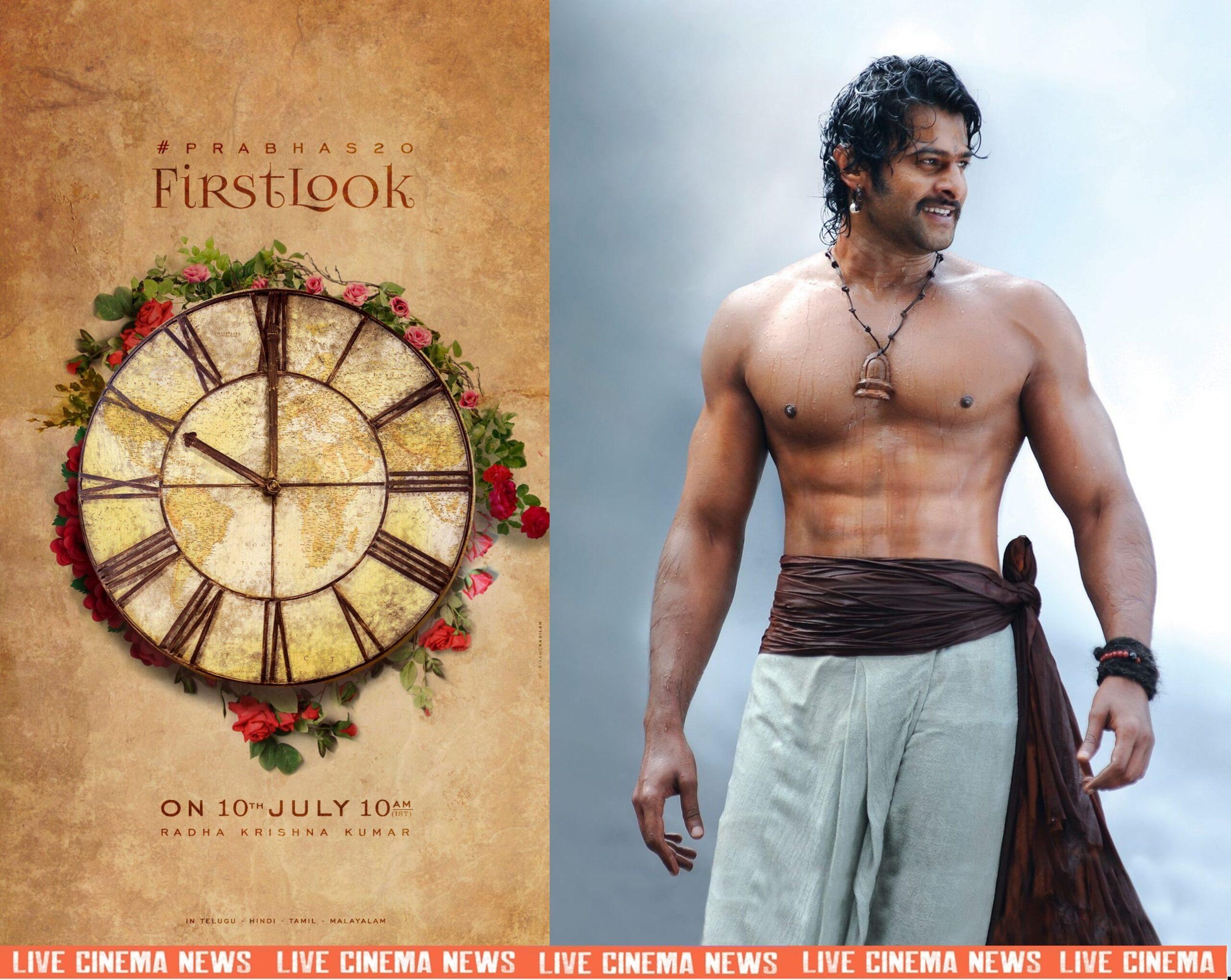 Prabhas 20th film firstlook announcement