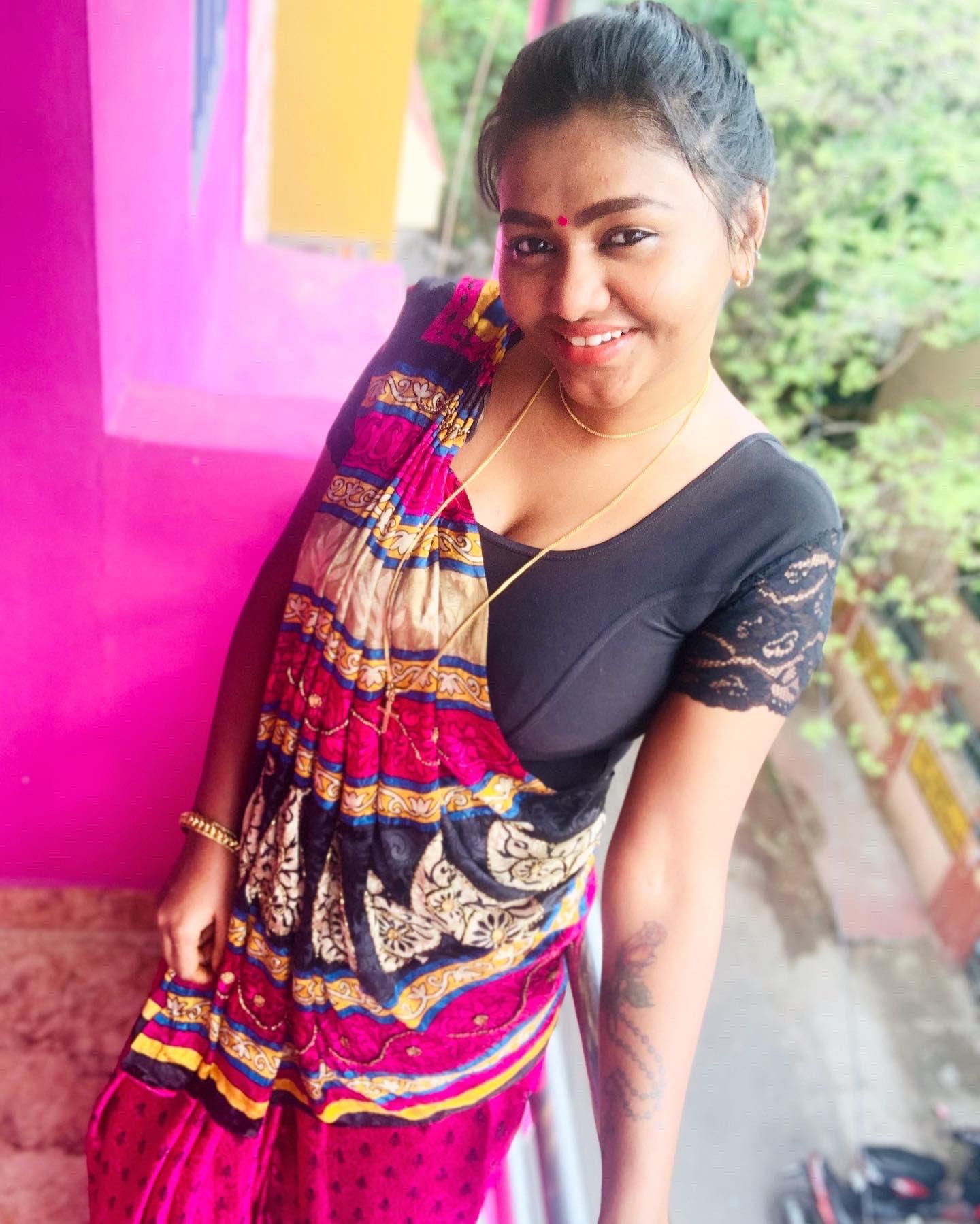 shalu shamu in saree
