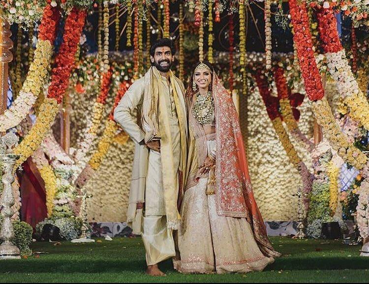 Actor Rana Daggubati And Miheeka Bajaj - Wedding Photos