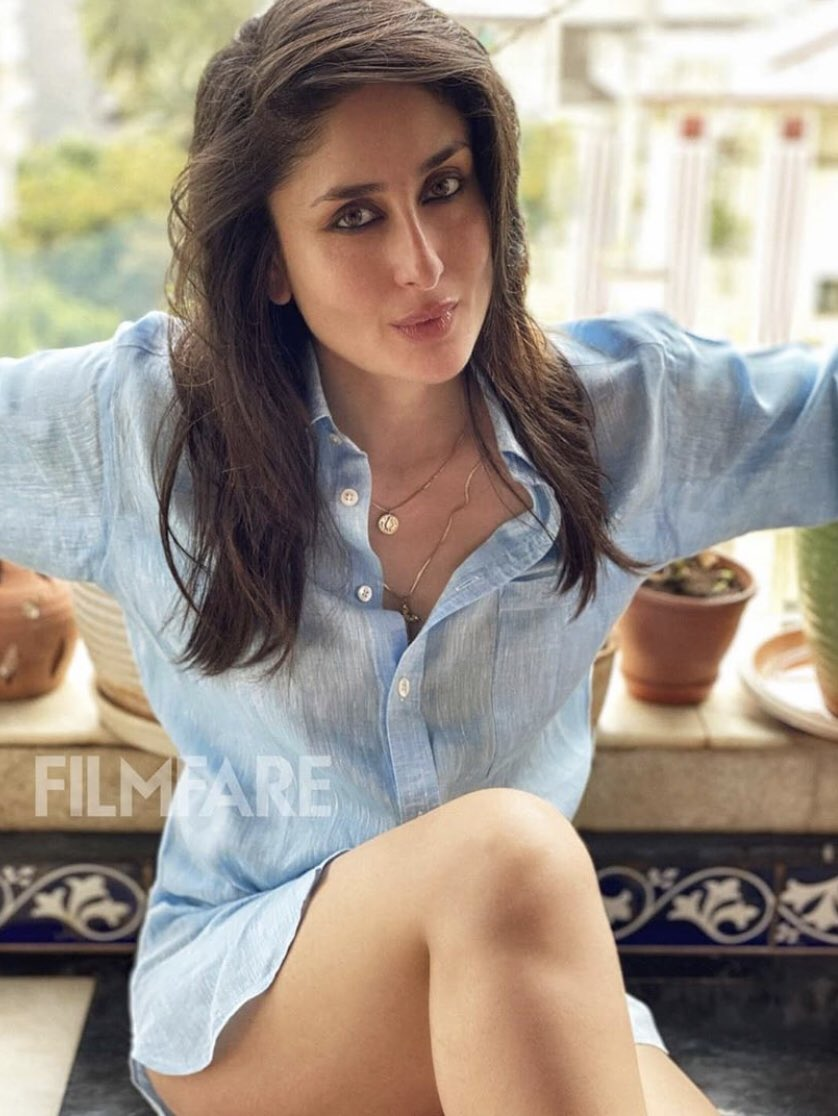 Kareena Kapoor is sitting