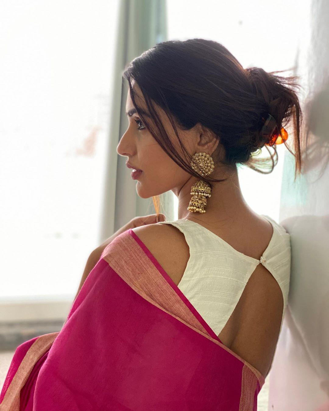 Akshara Gowda Latest Saree Photos (5)