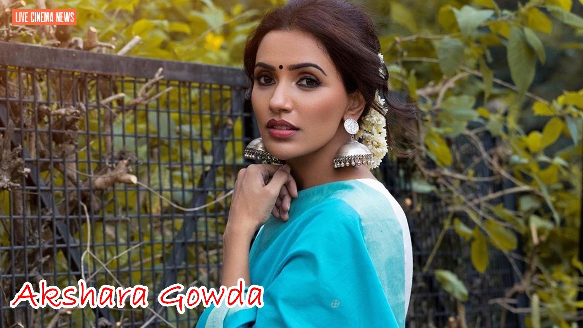 Akshara Gowda Latest Saree Photos