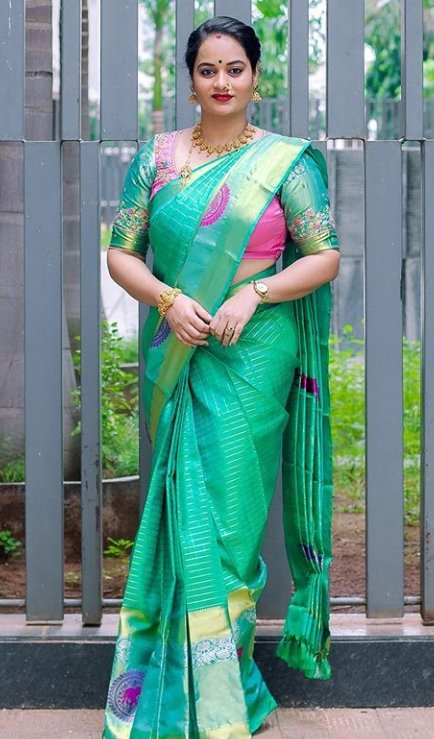 Actress Suja Varunee Saree Latest Images