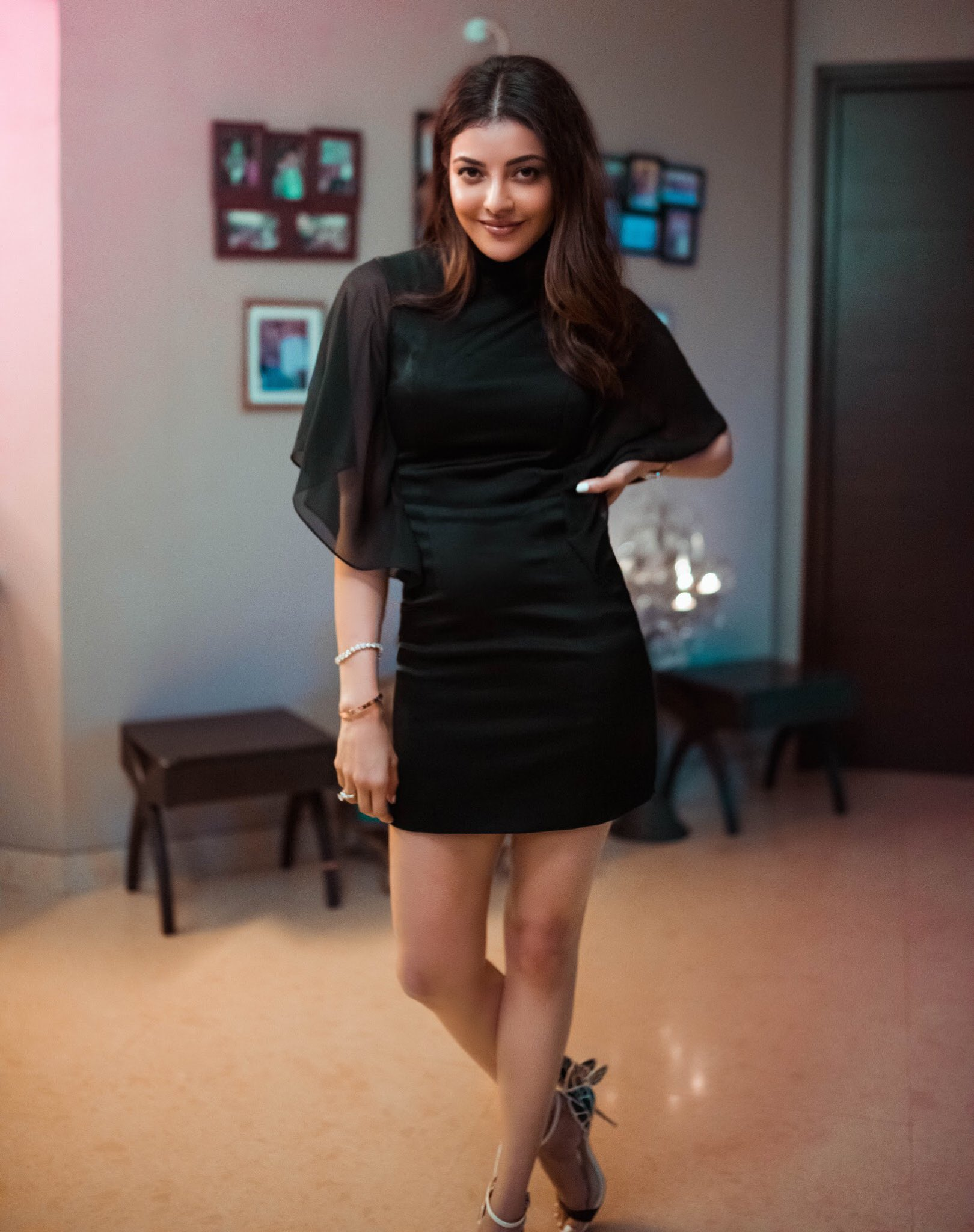 Kajal Aggarwal in a beautiful black dress