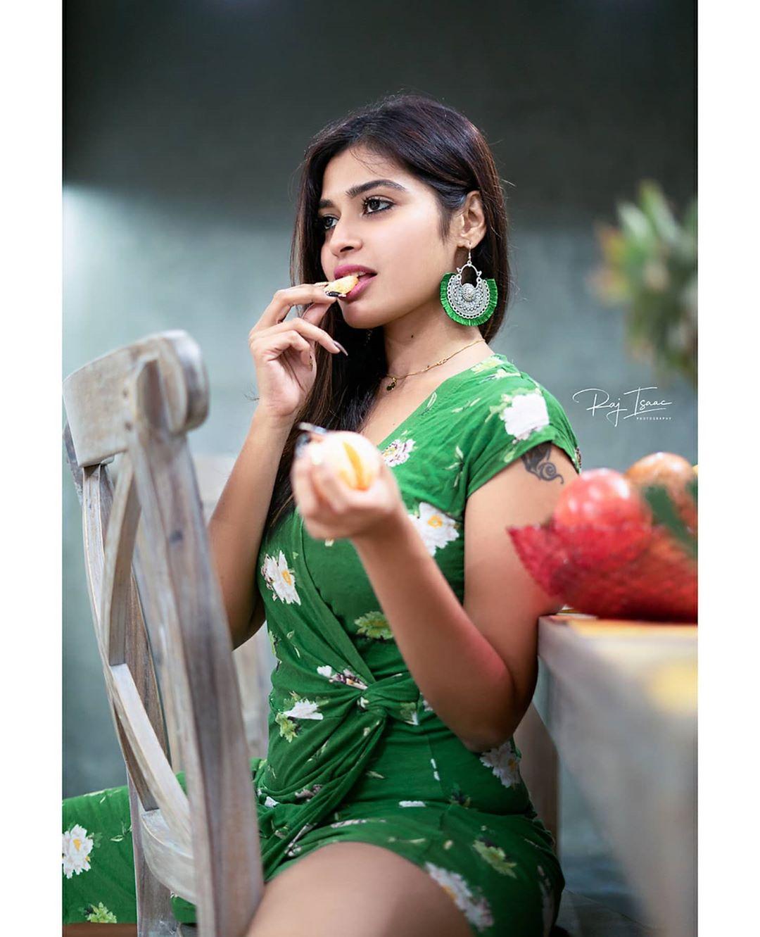 Photo of Dharsha Gupta in Green Dress