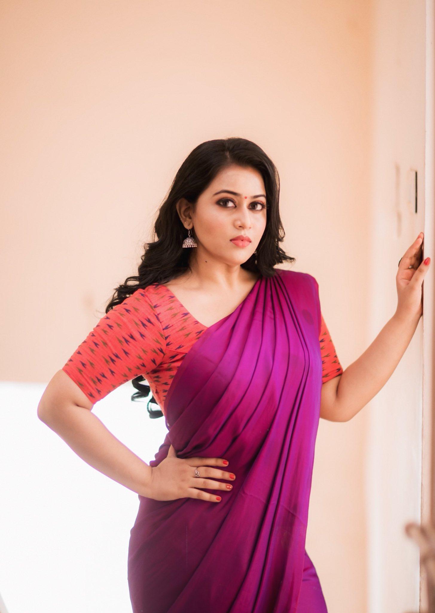 Actress Diana Champika Latest Saree Photos