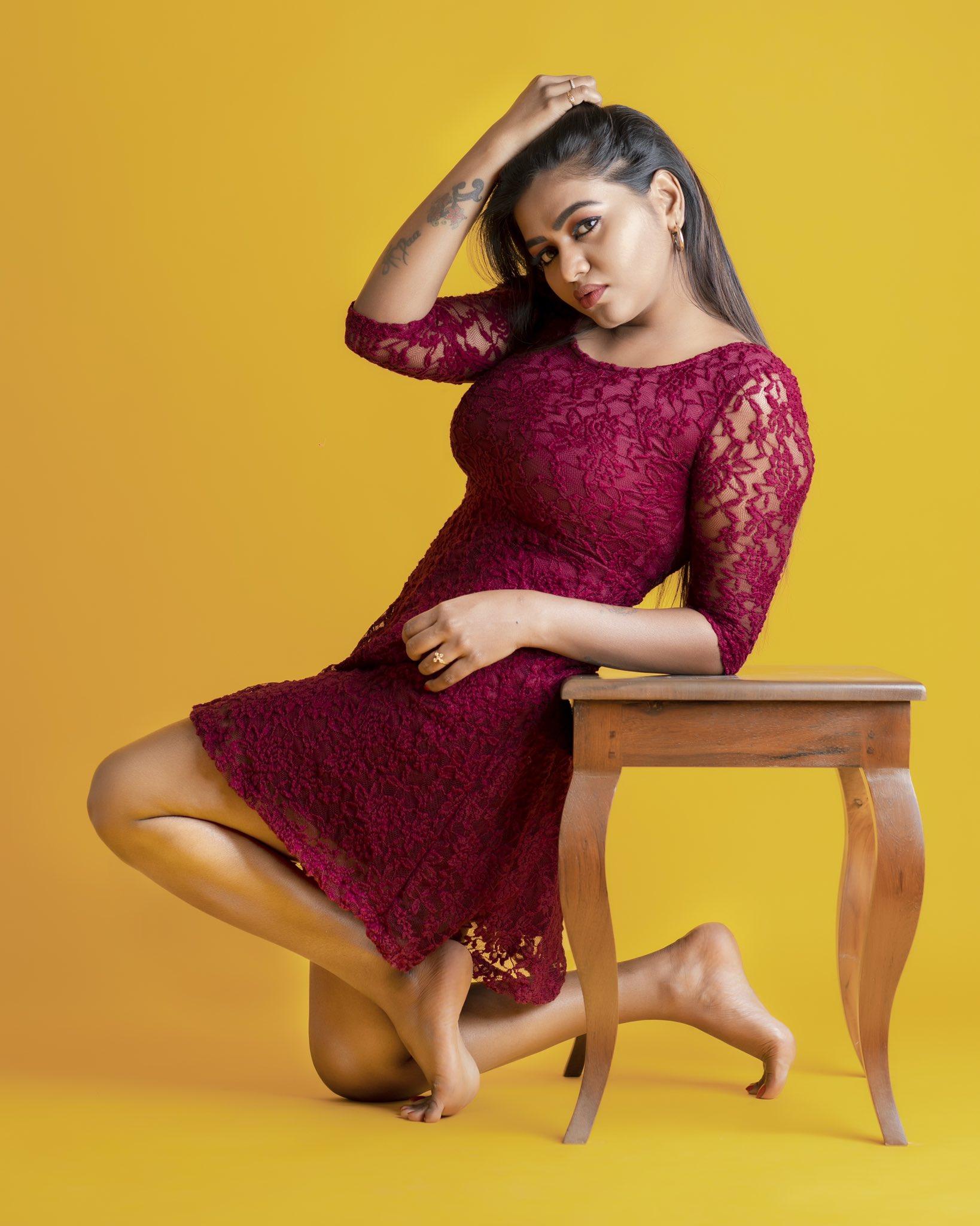 Shalu Shamu Red Dress Photos