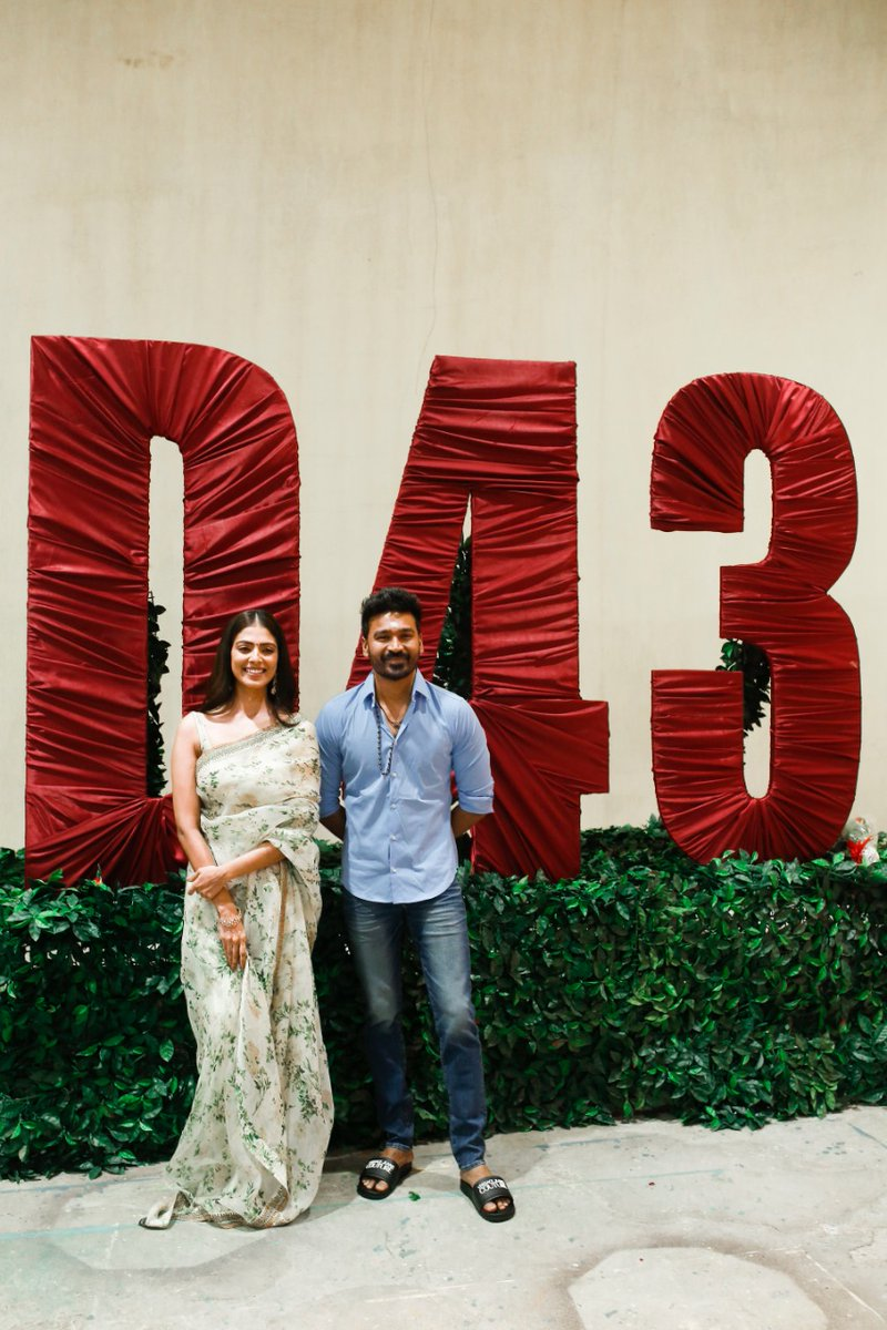 Dhanush's 43rd Movie Pooja Images HD_2