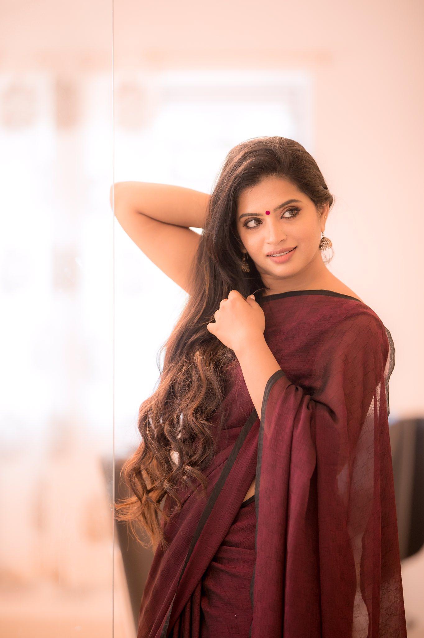 Actress Akila Latest Saree Photos
