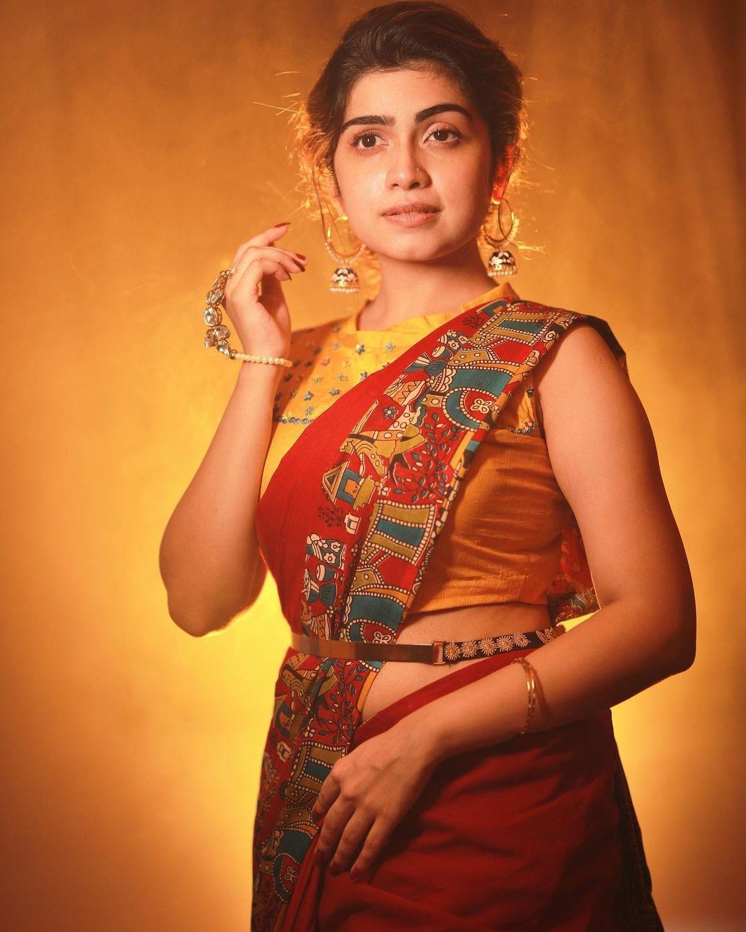 Actress Manasa Radhakrishnan Saree Photos (10)