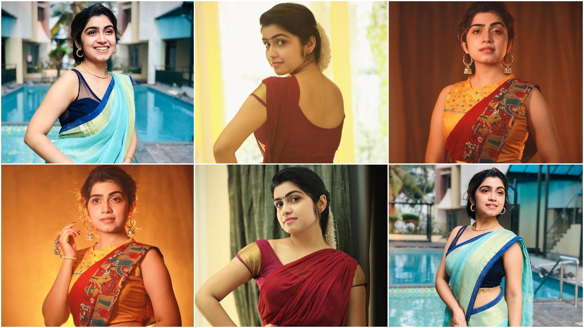 Actress Manasa Radhakrishnan Saree Photos (8)