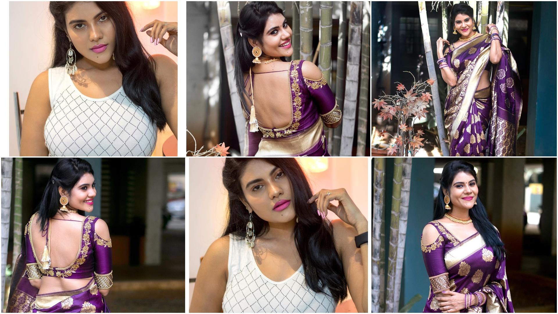 Tamil Serial Actress Nivisha Stills (5)