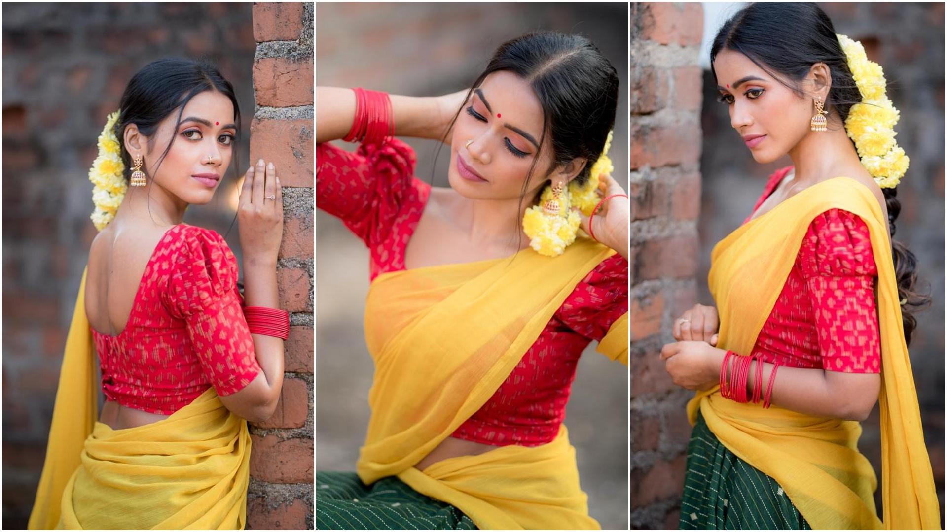 Tharsika Saree Photos HD (3)