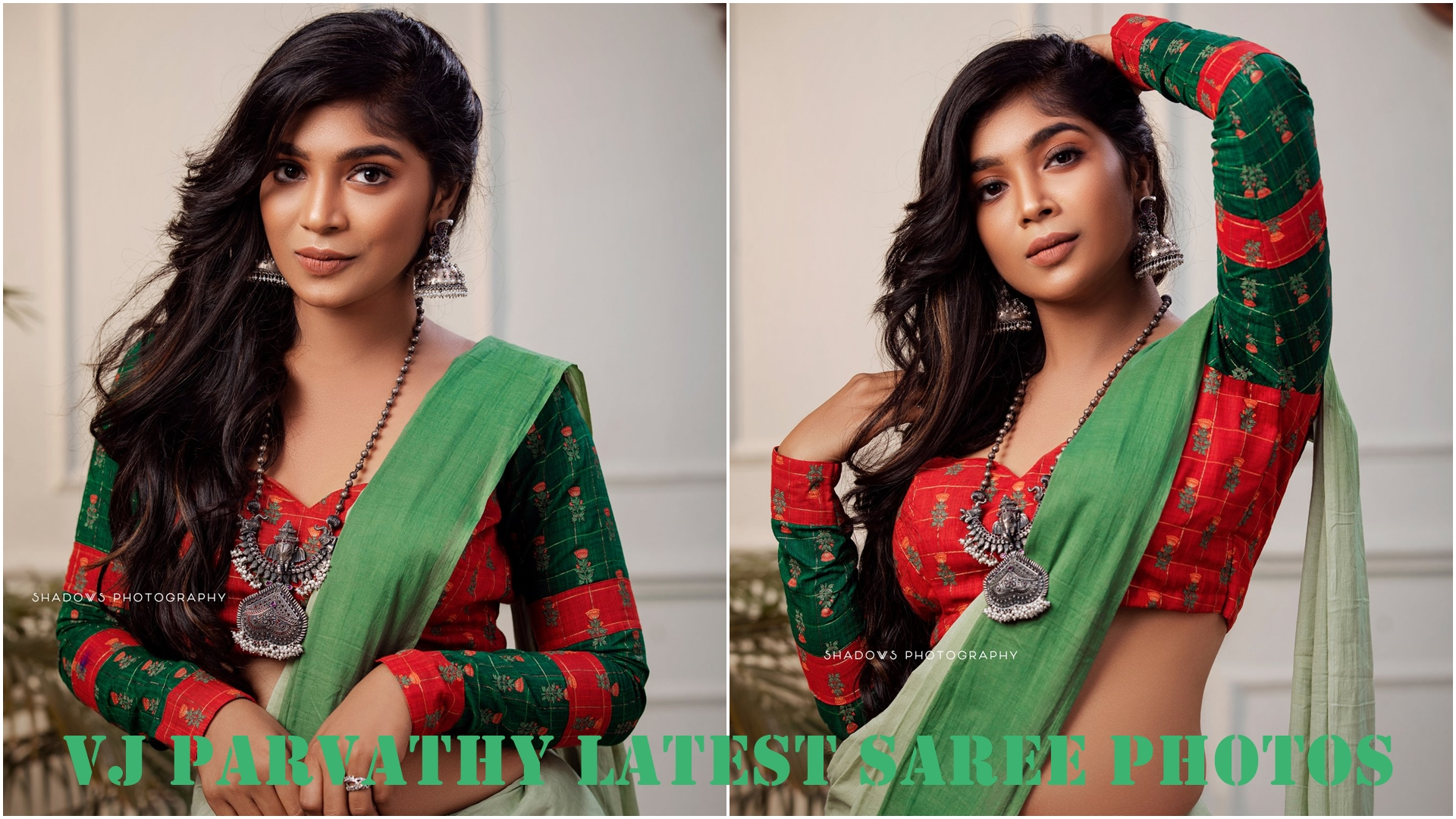 VJ Parvathy Latest Saree Photos (4)